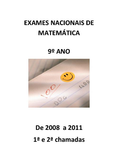 Exames Nacionais de Matemática 9º ano