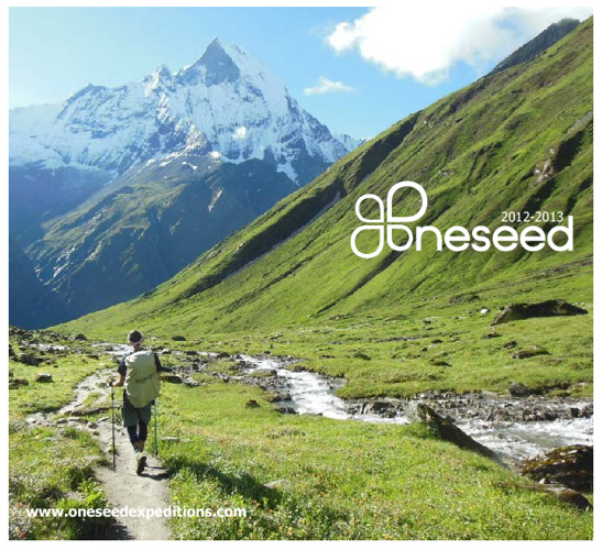 OneSeed Expeditions 2013 Catalog