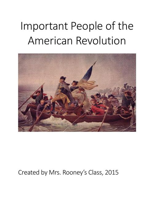 Important People of the American Revolution