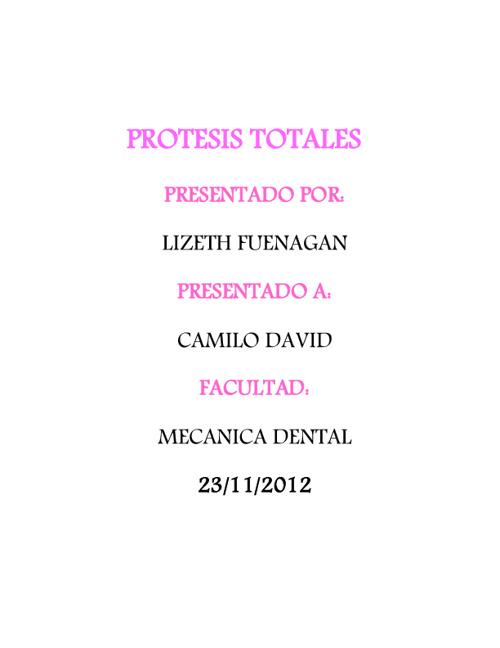 PROTESIS TOTAL