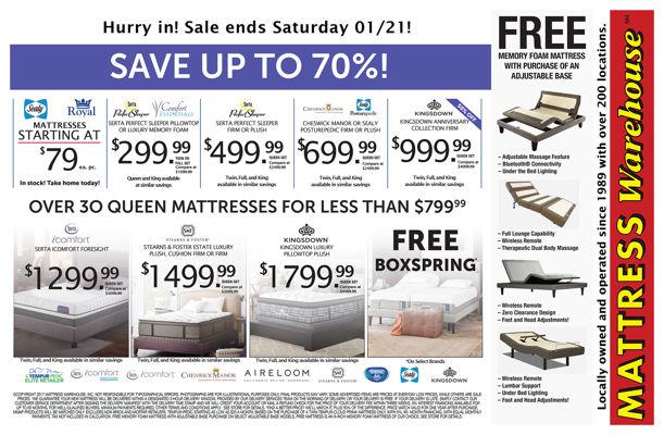 mattress warehouse winter holiday sale