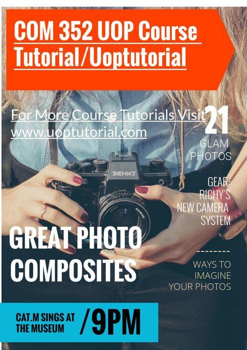 COM 352 UOP Course Tutorial/Uoptutorial