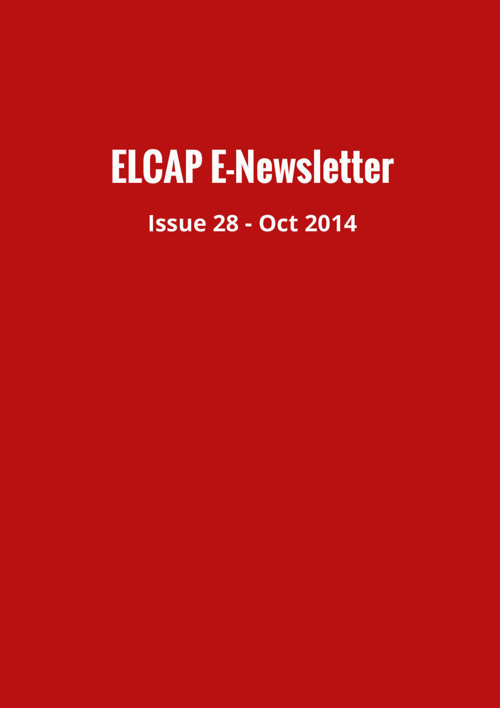 Issue 28 - Oct 2014 - ELCAP E-Newsletter