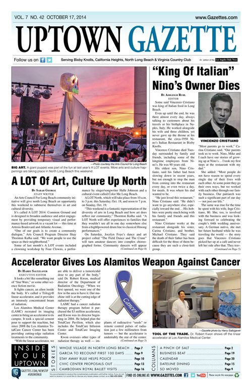 Uptown Gazette  |  October 17, 2014