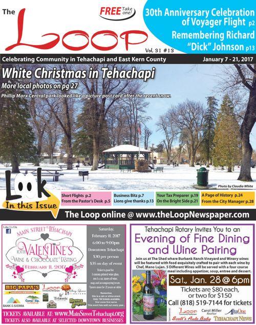 The Loop Newspaper Vo 31 No 13 - Jan 7 to 21, 2017