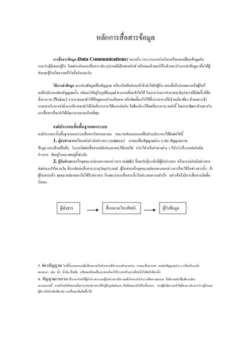 หลักการสื่อสารข้อมูล(Data Communication Networks)