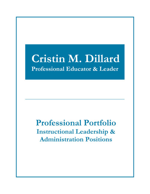 Instructional Leader Portfolio