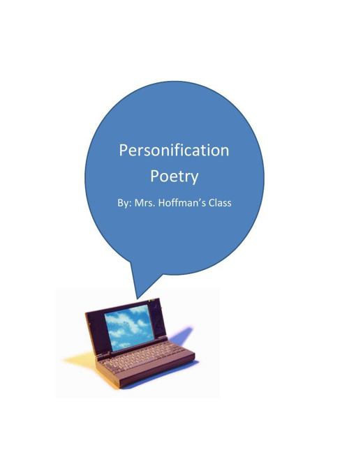 Personification Poems - Take 4