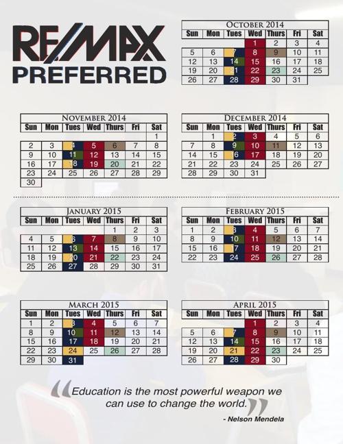 Action Education Calendar
