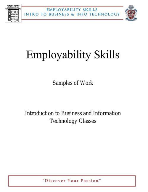 Employability Skills BIT Revised MAR 18