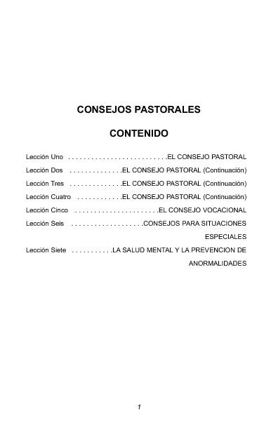 CONSEJERÍA PASTORAL