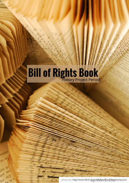 EBMS Legends US History Project: Bill of Rights Book