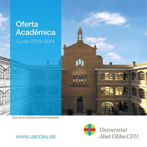 Oferta academica UAO CEU 2013_ES