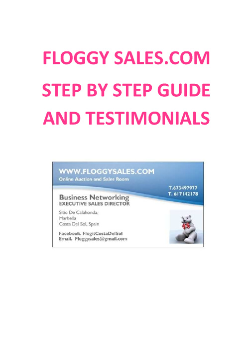 FLOGGY STEP BY STEP EASY GUIDE