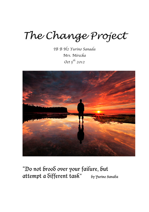 The Change Project IB H English