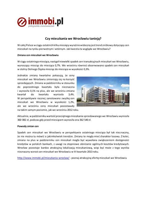Mieszkania we Wroclawiu