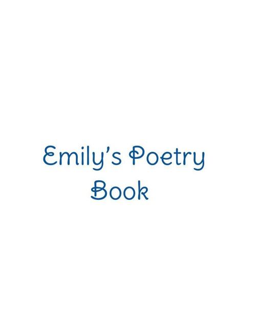 Poetry Book, By: Emily
