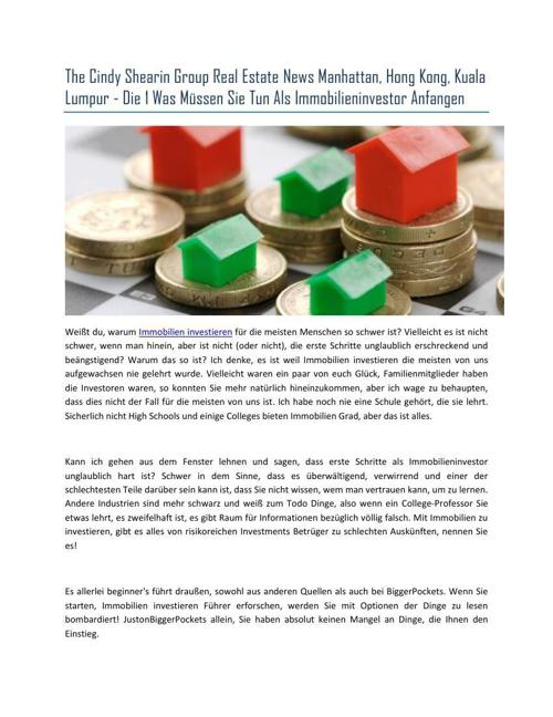 The Cindy Shearin Group Real Estate News Manhattan, Hong Kong, K