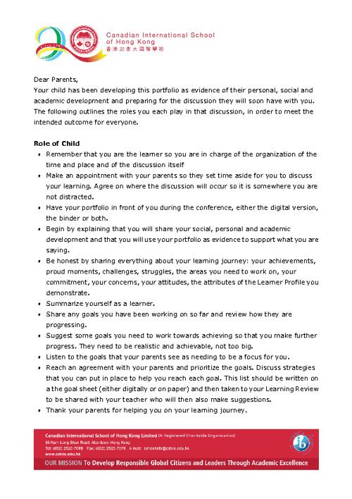 6C portfolio cover letter
