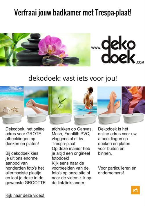 Enkele producten van Dekodoek