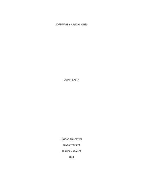 SOFTWARE Y APLICACIONES - DIANA