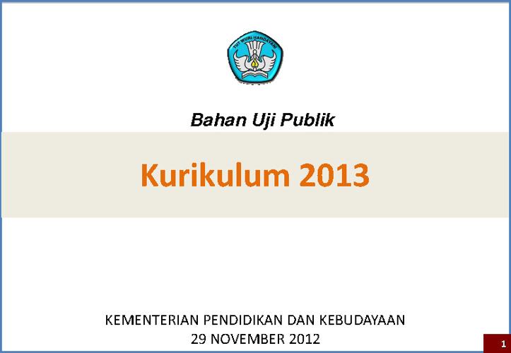 uji publik kurikulum 2013