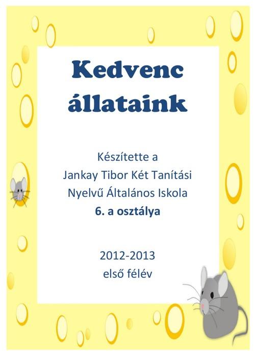 6. a projektje - 2012-2013. első félév