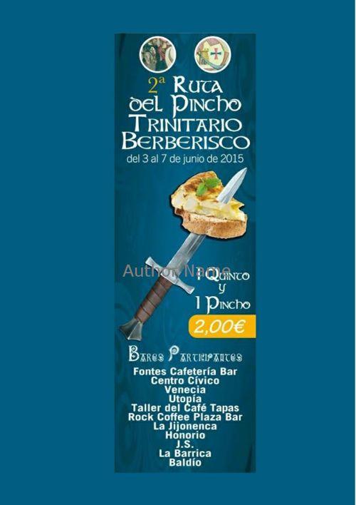 II RUTA DEL PINCHO TRINITARIO-BERBERISCO 2015