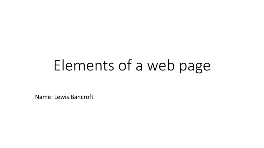 Elements of a Web Page (Completed version)