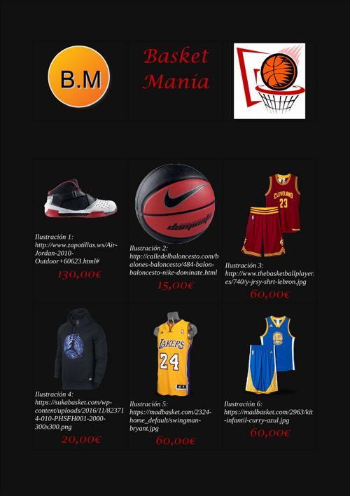 catalogo de baloncesto