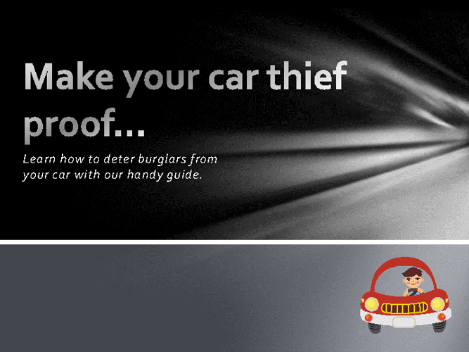 Make your car thief proof