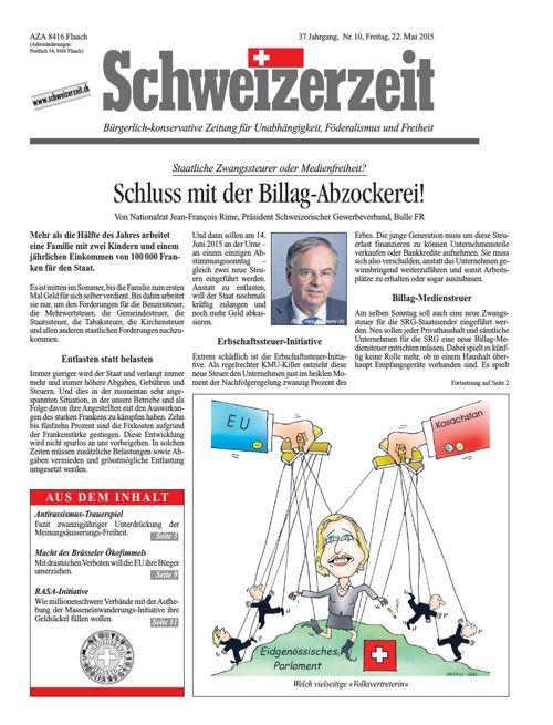 Schweizerzeit Nr. 10 vom 22.05.2015
