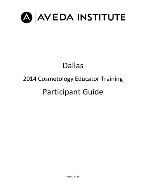 2014 Quarterly Cosmetology Educator Training Program_ Participan
