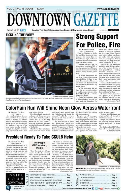 Downtown Gazette     August 15, 2014