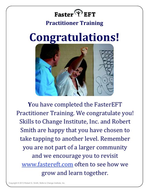 FasterEFT Practitioner Training Complete