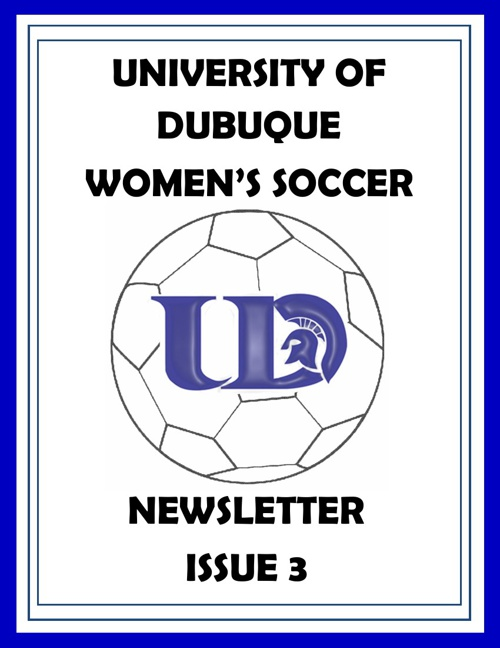UD Women's Soccer Newsletter Issue 3