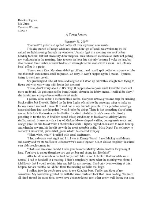 Long Fiction Piece