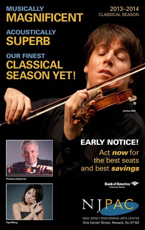 NJPAC Classical Brochure 2013-2014