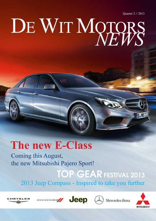 De Wit Motors News - Quarter 2 // 2013