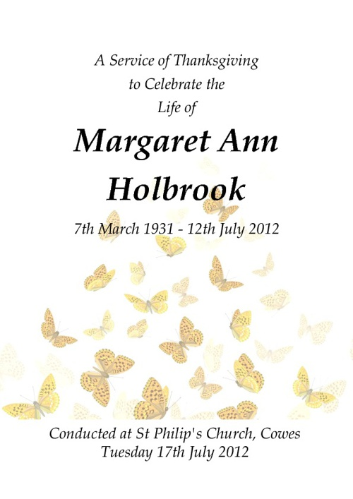 Copy of Margaret Holbrook