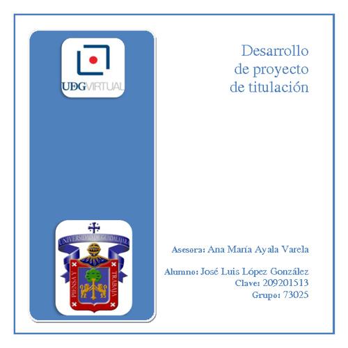 Jose Luis Lopez - Avance