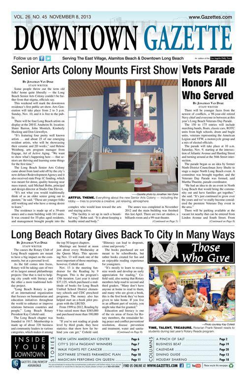 Downtown Gazette  |  November 8, 2013