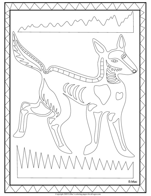 Letter X Xray Coloring Page  printable interactive