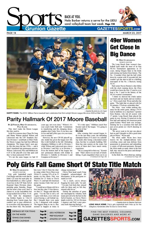 Gazette Sports  |  March 23, 2017