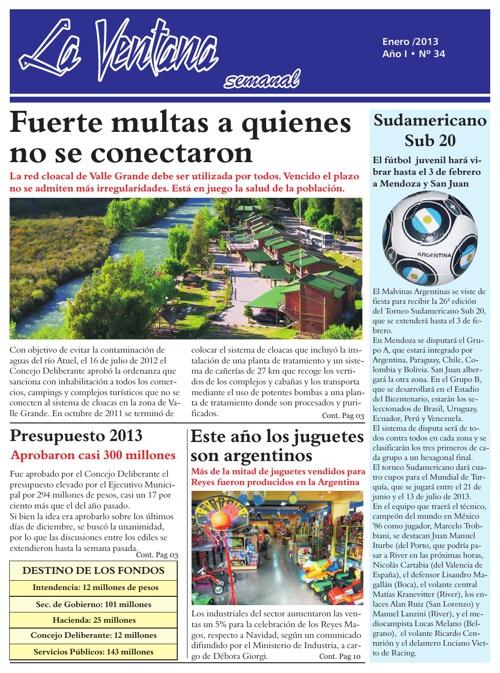 Revista La Ventana N° 34