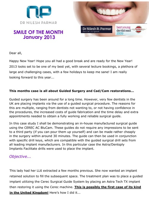 Smile of the Month January 2013