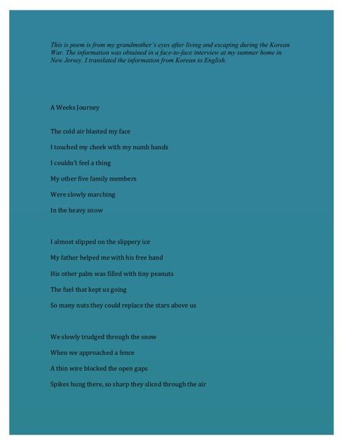 Korean War Poem