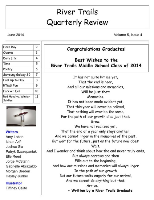 RTMS Quarterly Review May 2014