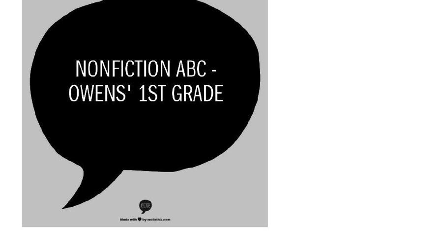 Nonfiction ABC