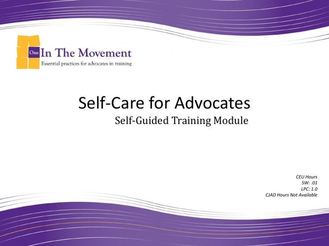 Self Care for Advocates